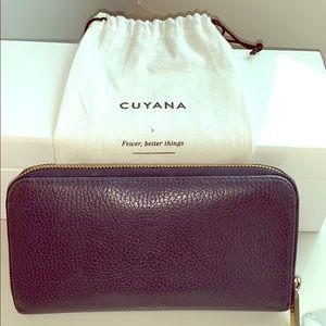 Cuyana Navy Classic Zip Around Wallet